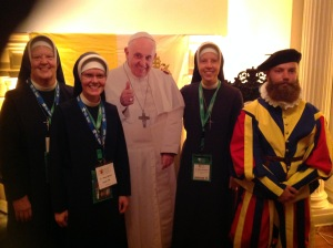 CKs with Pope Francis and a Swiss Guard